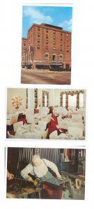 Corning NY Baron Steuben Hotel Treadway Inn Vintners Restaurant Glassblower 3 PC