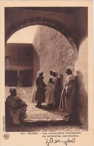 Morocco Maroc An Interesting Conversation 1920s-30s