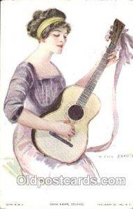 Earl F. Christy, (US) Artist Signed 1913 light wear, very light postal markin...