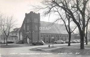 C1/ Sibley Iowa Ia Real Photo RPPC Postcard c40s First Presbyterian Church