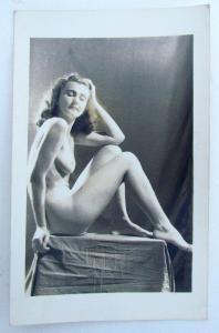 RPPC VINTAGE PHOTO POSTCARD NAKED GIRL WOMAN risque erotic
