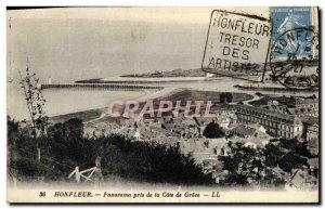 Postcard Old Honfleur Panorama Taken from the Cote De Grace
