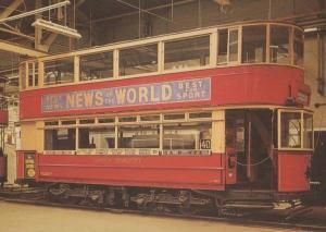 News Of The World Newspaper London Bus Rare Advertising Postcard