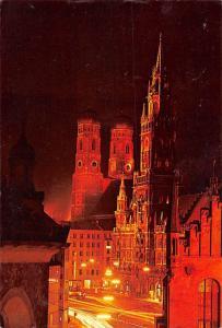 Muenchen Marienplatz Kirche Church Night view