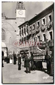 Postcard Modern Holy Week in Perpignan Roussillon The procession of the Sanch...