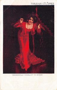 Bryson~Mademoiselle Vermillon~Lady Performer in Red Gown~Tableax Celebres~1905