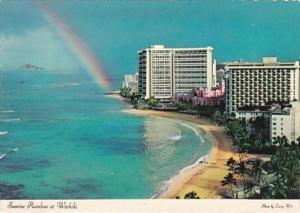 Hawaii Waikiki Sunrise Rainbow and Sheraton Hotel