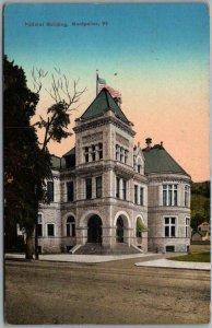 Vintage Montpelier, Vermont Postcard Federal Building Street View 1910s Unused
