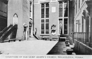 PA - Philadelphia. Old St. Joseph's Church Courtyard