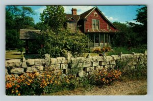 Geneva IN Indiana Limberlost Cabin, State Memorial, Chrome Postcard