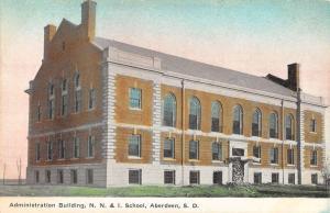 Aberdeen South Dakota NNI School Admin Bldg Antique Postcard K24379