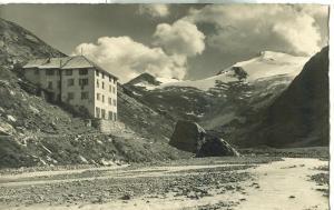 Suisse, Saas Almagell. Berghotel Mattmark am Monte Moro-Pass