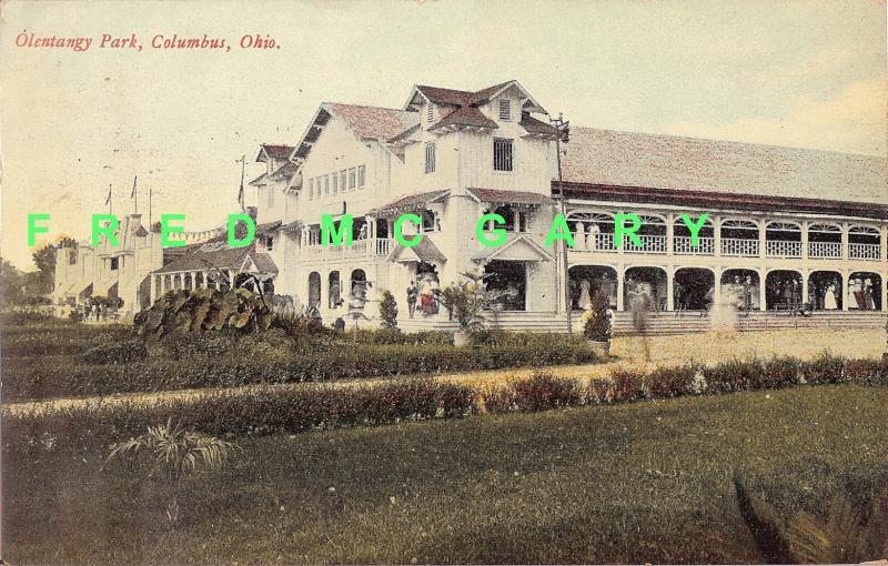 1913 Columbus Ohio PC: Dance in Progress at Olentangy Park