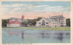 MEDFORD, Massachusetts, PU-1919; Armory And Catholic Church