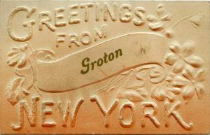 Greetings from Groton, Tompkins County NY, New York - pm 1909 - DB