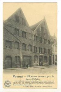 Tournai , Belgium, 00-10s   Maisons romans pres la Tour St-Brice