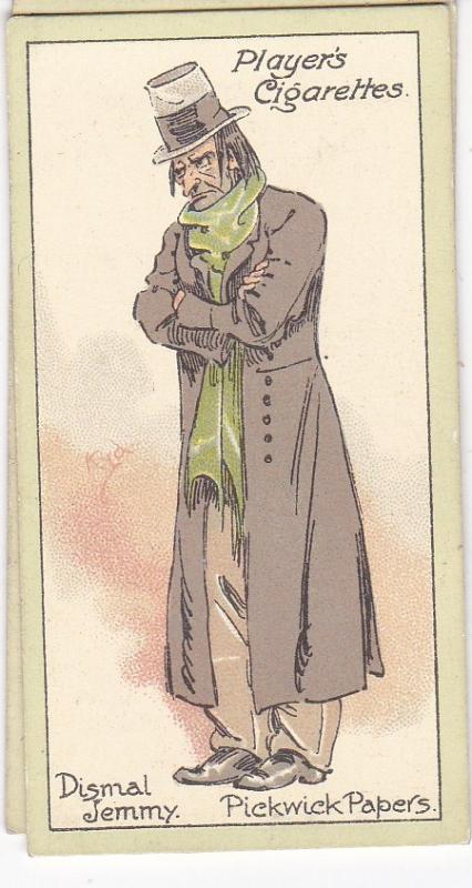 Cigarette Cards Players Characters From Dickens No 20 Dismal Jemmy