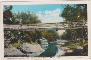MINERAL WELLS , Texas, 1910s ; Suspension Bridge , Lover's Retreat