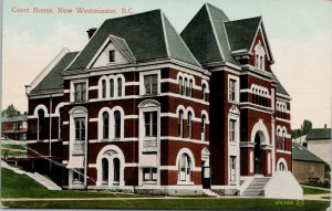 Court House New Westminster BC Postcard F14 *as is
