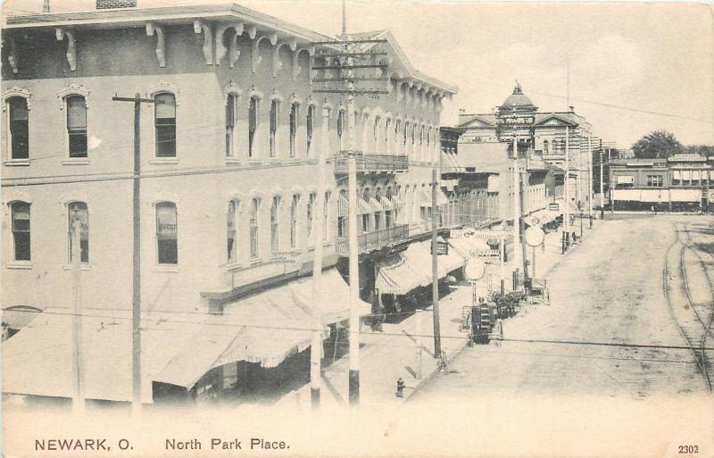 Newark Ohio~North Park Place~Drugs~Furniture~Carpet~Buggies On Curb