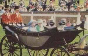 Princess Anne  with Queen Mother Ascot 1978 Royal Postcard
