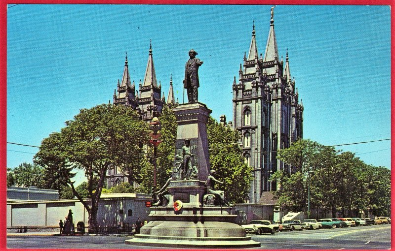 BRIGHAM YOUNG MONUMENT, SALT LAKE CITY  SEE SCAN