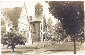 Woodstock VT Library Lodge Inn Real Photo RPPC Postcard