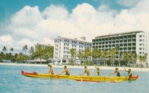 WAIKIKI BEACH , Hawaii , 1950-60s ; Outrigger