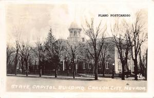 CARSON CITY, NEVADA STATE CAPITOL BUILDING-1935 RPPC REAL PHOTO POSTCARD