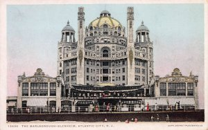 The Marlbourough-Blenheim, Atlantic City, NJ, Early Postcard, With Message
