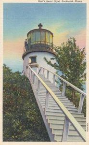 ROCKLAND, Maine, 1930-1940s ; Owl's Head Lighthouse
