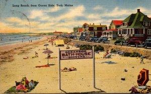 Maine York Long Beach From Ocean Side 1943