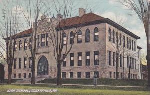 CLEARFIELD, Pennsylvania, PU-1909; High School