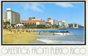 Greetings from Puerto Rico San Juan Multiview c1985 Vintage Postcard D28