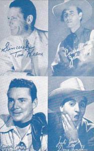 Cowboy Arcade Card Tom Keene John King Russell Hodgins & Danny Thomas