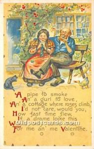 Valentines Day Post Cards Old Vintage Antique Postcards Unused