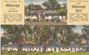 2-Views, Hillsborough Motel, Hillsborough Drive-Inn Restaurant, TAMPA, Florid...
