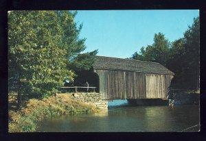 Old Sturbridge Village, Massachusetts/MA Postcard, Covered Bridge,Dummerston, VT