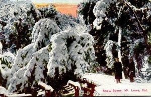 California Mount Lowe Snow Scene