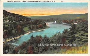 Barryville & Suspension Bridge Barryville NY 1934