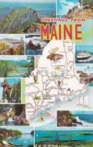 Greetings From Maine With Map