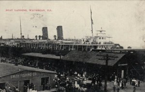 WAUKEGAN , Illinois , 1909 ; Boat Landing