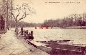 FRANCE BOIS DE VINCENNES - LE LAC DES MINIMES - TWO MEN ON DOCK