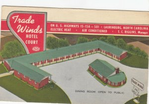 LAURINBURG , North Carolina , 30-40s; Trade Winds Hotel Court