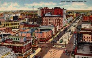 Louisiana New Orleans Trolleys On Canal Street Curteich