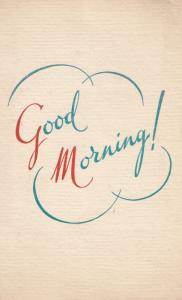 Northampton Methodist Church Womens Social Circle 1900s Good Morning Card