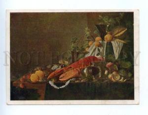 155044 Still life Lobster by De HEEM vintage Russian PC