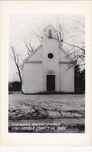 Montagues Baptist Church King George County Virginia Real Photo