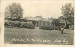 1914 Enid Oklahoma Pagoda Square RPPC real photo postcard 11623
