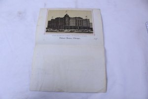Vintage 1870's Palmer House Chicago Fire Proof Hotel Embossed Advertising